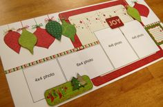 scrapbook christmas layouts | scrapbook generation: Super-Saver Scrapbooking layouts for December