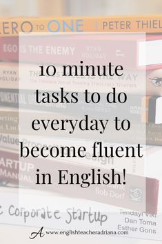 Everyday habits to improve your English Fluency alone at home. Use these 13 things you must do every day to improve your English fluency alone at home! Advanced English Vocabulary, Teaching English Grammar, Grammar Skills, English Vocabulary Words, Learn English Words, English Phrases, Grammar Lessons, English Language Learning, English Writing