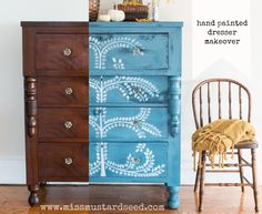 hand painted dresser makeover | miss mustard seed