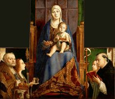 San Cassiano Altar Oil on panel 1475-1476