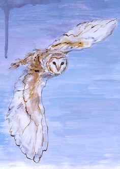 Athena's Owl Original Painting