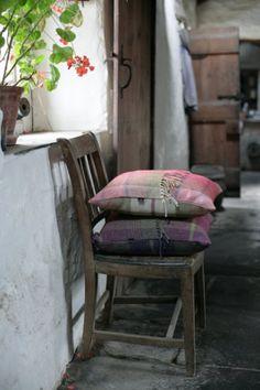 4 via FB. blanket or wool scarf pillows