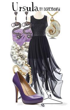 """Ursula"" by leslieakay ❤ liked on Polyvore featuring moda, White House Black Market, A Wear, Links of London, Disney, Michael Antonio, Haridra, women's clothing, women ve female"