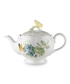 Love this style so much!  Butterfly Meadow Teapot #zulily #zulilyfinds