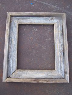 Lot Of 12 8x10 Barnwood Picture Frames, 6 Deluxe & 6 Flat, Rustic, Weathered