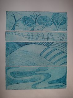 My Curious Tea Party: Collagraph lessons at Cuckoo Farm Collagraph Printmaking, Picasso Cubism, Art Alevel, Ink Pen Drawings, Gelli Printing, Abstract Landscape, Landscape Prints, Painting Inspiration, Art Inspo