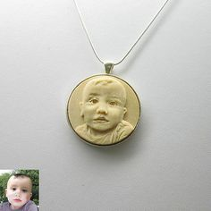 3 D Engraved Necklace Custom Engraved on Wood from Your Photo | eBay