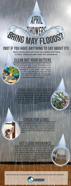 April showers bring May ... floods?! Not for you it doesn't.  Be prepared for the rainy season with these flood preventing tips!
