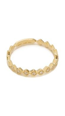 EF Collection Pave Diamond Zigzag Stack Ring | SHOPBOP