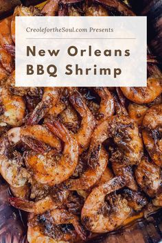 """Did you know that when we """"barbecue"""" shrimp in New Orleans, it doesn't involve any barbecue sauce or an outdoor grill?! Instead, we're referring to sautéed shrimp in a rich brown butter sauce, spiked with Cajun spices."""
