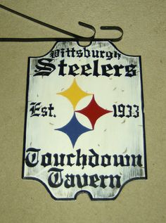 Primitive Rustic PITTSBURGH STEELERS Wood by 3CsGiftCreations