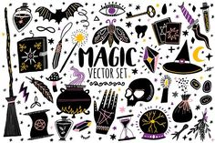 Magic vector set. Witchcraft icons by Abra Cadabraaa on @creativemarket