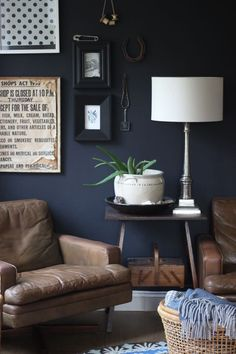 My Living Room: Black feature wall by Heather Young