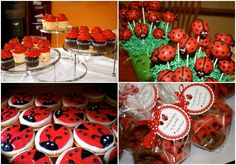 Birthday is one of the most special moments. If you have a little girl and you want to celebrate her birthday, you have to plan the party decoration properly. Ladybug Party Foods, Ladybug Food, Ladybug Cake Pops, Party Treats, Party Snacks, Ladybug Nursery, Party Favors For Adults, Birthday Party Centerpieces, Outdoor Decorations