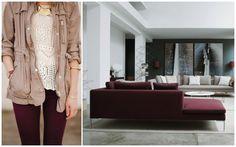 Burgundy: fashion x decor #fashion #decor #burgundy #casadasamigas