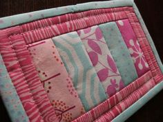 Mug Rug or MiniquiltTutorial;      piecing directly onto a backing