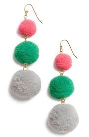 Resultado de imagen para pom pom earring