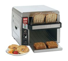 This Waring Commercial Toaster has a super high output of up to 450 slices per hour and an ultra-fast 5 minute heat-up time. This heavy duty commercial toaster features a conveyor which has controls for all toasting preferences. Air Conditioning Services, Heating And Air Conditioning, Restaurant Equipment, Kitchen Equipment, Online Restaurant, Kitchen Cart, Kitchen Dining, Specialty Appliances, Commercial Kitchen