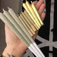 different sizes of joints rolled