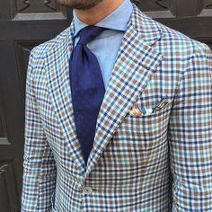 Benedikt Fries - Shibumi — Sporting our navy shadow printed silk tie....