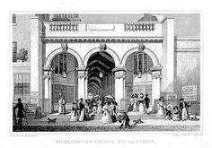 Burlington Arcade by Thomas Hosmer Shepherd 1827-28 - Regency era - Wikipedia