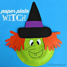9 Paper Plate Halloween Crafts for Kids | Boy Birthday Party Ideas ...