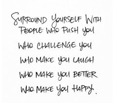 HFC Daily Affirmation - Today I will surround myself with people that inspire me!   www.hungryforchange.tv