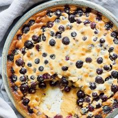 Bake Nadiya Hussain's Blueberry Clafoutis for a quick, light and fruity French-inspired dessert. No Cook Desserts, Healthy Dessert Recipes, Just Desserts, Baking Recipes, Delicious Desserts, Yummy Food, English Dessert Recipes, Amish Recipes, Nadiya Hussain Recipes