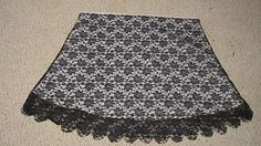 DIY Lace Skirt by Amie from Kitty Cats and Airplanes Guest Blogger for Craftaholics Anonymous®