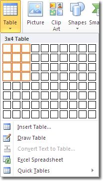 Icons on pinterest for Table design ms word