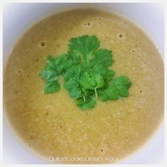 Pullantuoksuinen koti: Lämmittävä Butternut Kurpitsakeitto, Buttenut squash/pumpkin soup