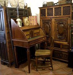 Coleccion muebles antiguos on pinterest antigua mesas for Buro espagnol