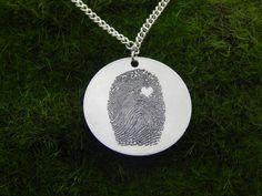 Inricate Detailed Custom Fingerprint Pendant
