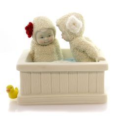 Dept 56 Snowbabies Steamy Hot Tub Gossip Figurine