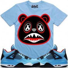 243ed1cd204c54 Baws T-Shirt Bred Baws Sneaker Tees Shirt - Jordan Retro 4 Cactus Jack