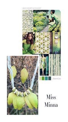 Verde un color que triunfara también en este año, es el color de las hojas de primavera y es el símbolo de la fertilidad y de la naturaleza.   www.missminna.es  #missminna #verde #naturaleza #hojas #primavera #collares #complementos #bisuteria #simbolo