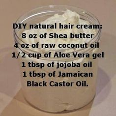 DIY natural hair cream