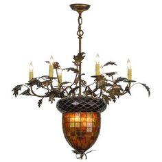 Meyda Tiffany Greenbriar 8 Light Candle Chandelier