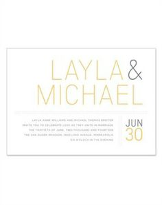 Wedding Invitation...I like the simplicity. I might make the names smaller and the rest of the wording a little larger.