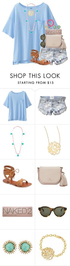 """Super close to 2.3K & done my mini spam"" by thefashionbyem ❤ liked on Polyvore featuring Uniqlo, Abercrombie & Fitch, Lead, Jennifer Zeuner, Topshop, Kate Spade, Urban Decay, RetroSuperFuture, Kendra Scott and Sydney Evan"