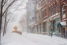 Portland, Maine January 2015 Snow storm on Exchange Street Photo by Corey…