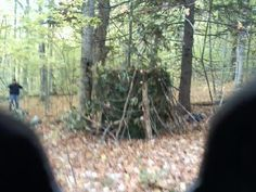 Cool ground blind camo ammo pinterest ground blinds deer finished homemade ground deer blind for hunting season solutioingenieria Gallery