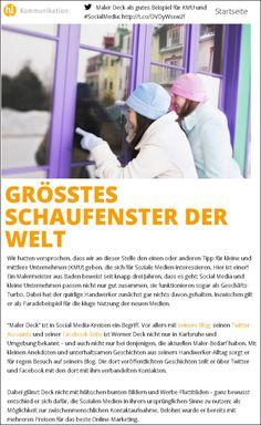 Bei Sandra Hellmers h2l Kommunikation, durfte malerdeck als gutes Beispiel für KMU und SocialMedia dienen. Vielen Dank