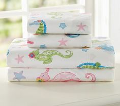 Seahorse Sheeting | Pottery Barn Kids