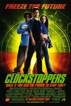 Clockstoppers , starring Jesse Bradford, French Stewart, Paula Garcés, Michael Biehn. A teenager accidentally activates a machine that enables him to speed up his body so that other people seem to be standing still. #Adventure #Sci-Fi #Thriller