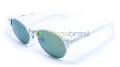 O novo Ray-Ban lendário é inspirado no autêntico estilo dos intelectuais modernos e criativos boêmios: Esse é o Clubround RB4256. Inconfundível e único, esse óculos é a combinação de duas das tendências de maior sucesso, Round e Clubmaster.  http://www.oticasbrasil.com.br/ray-ban-clubround-rb-4246-988-2x-oculos-de-sol