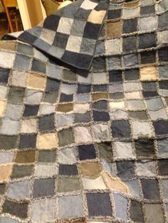 Quilt from old jeans