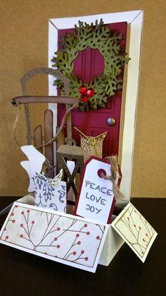 Christmas Hanukkah, Christmas Cards To Make, Xmas Cards, Holiday Cards, Pop Up Box Cards, Card Boxes, 3d Cards, Fancy Fold Cards, Folded Cards