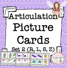 **Updated 3/8/16** Articulation picture cards are perfect to use during articulation therapy for memory, go fish and more!  Each sound set includes 120-156 cards (15-27 sets of each initial, medial and final positions).  With all 4 sounds, this bundle includes a total of 576 cards!