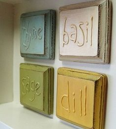 Rustic Herb Plaques   Crafts for the Home   Decor Craft   Spring Craft — Country Woman Magazine